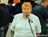 Klātesošos uzrunā Latgales Lauksaimniecības zinātnes centra vadītāja Veneranda Stramkale