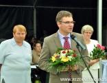 Lauku dienu apmeklētājus sveic Rēzeknes novada domes priekšsēdētājs Monvīds Švarcs