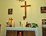 Dievkalpojumu vadīja Rēzeknes Jēzus Sirds draudzes vikārs Vitālijs Fiļipenoks