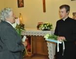 Pēc dievkalpojuma Lūznavas draudze sveica Rēzeknes Jēzus Sirds draudzes vikāru Vitāliju Fiļipenoku ordinācijas 3 gadu jubilejā