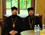 Latvijas pareizticīgās Baznīcas Rēzeknes un Madonas apriņķa prāvests virspriesteris Viktors Teplovs, pareizticīgās Baznīcas priesteris Tēvs Mihails