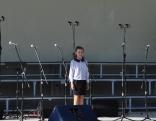 """Koncertu ar latgaliešu tautasdziesmu """"Ūsi, ūsi, kod lopuosi...""""atklāja Maltas vidusskolas 4. klases skolniece, Maltas Mūzikas skolas audzēkne Agate Gžibovska"""
