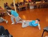 Ciemos uz konkursu ieradās arī mūsu skolas absolventes, demonstrējot savu deju.
