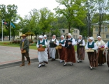 Vērēmu pagasta folkloras ansamblis Vōrpa.