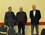 Konferences zinātniskais potenciāls (no labās) - Dr.hist. Valters Ščerbinskis (Rīga), Dr.hist. Vladislavs Malahovskis (Rēzekne), mg arh. Kaspars Strods (Latgales Kultūrvēstures muzejs)