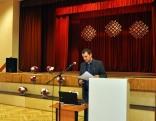 """Mg. arh. Latgales Kultūrvēstures muzeja speciālista kultūrvēstures jautājumos Kaspara Stroda referāta temats -  Latgales jautājuma atspoguļojums laikrakstu """"Dryva"""" un """"Liaužu Bolss"""" publikācijās."""