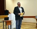 Konferences iniciators un moderators - Lendžu pagasta pārvaldes vadītājs Voldemārs Deksnis Foto: Silvija Kipļuka