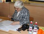 Olimpiadi labsirdeigi i stingri, kai vysod, vierteja LU profesore Lideja Leikuma.