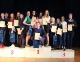 Olimpiadis uzvarātuoji - 1. vīta Nautrānu vydškolys 1. komandai, 2. vīta Dricanu vydškola, 3. vīta Baļtinovys vydškola.