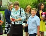 Kā ierasts - skolas vecākie - devītklasnieki - ieveda pašus jaunākos - pirmklasniekus