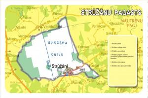 Strūžānu pagasta karte