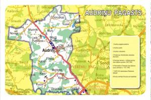 Audriņu pagasta karte