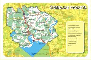 Čornajas pagasta karte