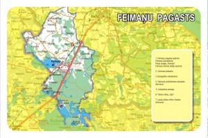 Feimaņu pagasta karte