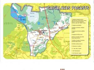 Gaigalavas pagasta karte