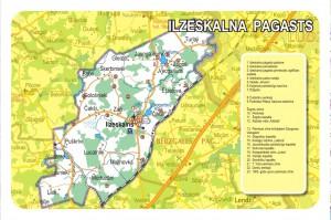 Ilzeskalna pagasta karte