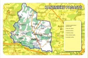 Kantinieku pagasta karte