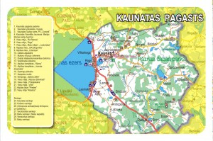 Kaunatas pagasta karte