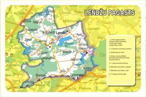 Lendžu pagasta karte