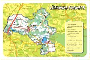 Lūznavas pagasta karte