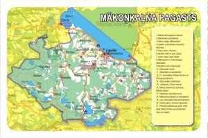 Mākoņkalna pagasta karte