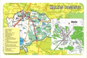Maltas pagasta karte