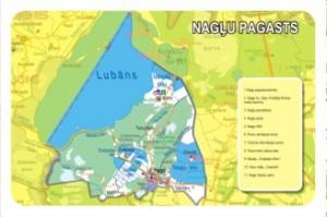 Nagļu pagasta karte