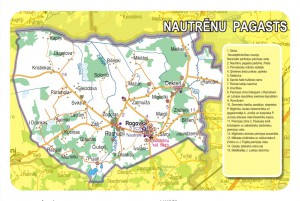 Nautrēnu pagasta karte