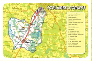 Ozolaines pagasta karte