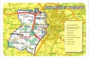 Ozolmuižas pagasta karte