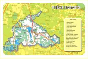 Pušas pagasta karte
