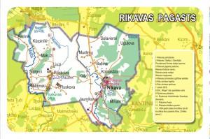 Rikavas pagasta karte