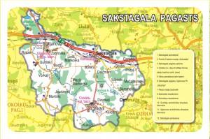 Sakstagala pagasta karte