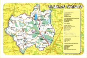 Silmalas pagasta karte