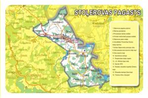 Stoļerovas  pagasta karte