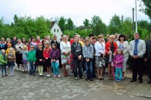 Nautrēnu pagasta sporta halles-kultūras nama atklāšanā (Foto: Madara Ļaksa)