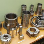 Rūpnīcā LEAX apstrādātās detaļas. E.Utāna fotoo