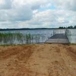 Peldvieta pie Feimaņu ezera