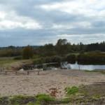 Labiekārtotā teritorija pie Ozolmuižas pagasta dīķa.