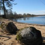 Labiekārtotā teritorija Vērēmu pagastā pie Adamovas ezera Vecborisovā.