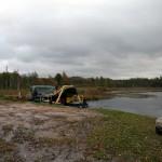 """SIA """"Latpower"""" sapropeli iegūst Ubogovas ezerā. Foto: Terēzija Kruste"""