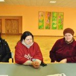 Projekta dalībnieces no Bērzgales (no kresisās) Lolita Laurecka, Meldra Gailāne un Ingūna Lejiņa