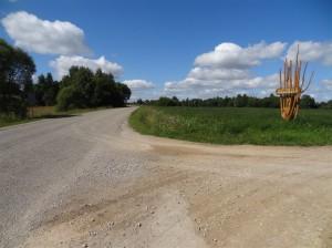 Ceļš Vonogova-Rogovka, kam dubultā virsmas apstrāde veikta pirms pāris gadiem
