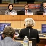 Foto no konferences. Pirmā no kreisās puses: Anna Jaudzema