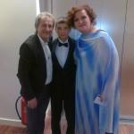 Mareks kopā ar Uldi Marhilēviču un Ilonu Bageli
