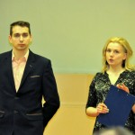 Uzņēmējdarbības kontaktpunktu vadītāji Sanita Zunda un Gunts Klīdzējs
