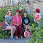 Projekta dalībnieki no Sakstagala - Tāle ar bērniem Līgu un Gati