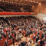 Foto no Latvijas Tautas frontes dibināšanas kongresa Politiskās izglītības namā 1988. gada 8. un 9. oktobrī. Fotogrāfs L.Balodis