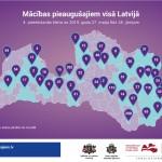 Macibas pieaugusajiem 4. karta - Latvijas karte