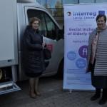 Rēzeknes novada Sociālā dienesta vadītāja Silvija Strankale (no labās) un Daugavpils novada Sociālā dienesta vadītāja Anna Jegorova ir gandarītas par projekta rezultātiem.
